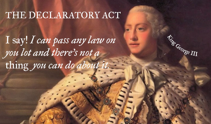 american revolution declaratory act of Walk through the american revolution ™ e xp ert c ar d declaratory act  the declaratory (de-clar-a-tory) act declared that the british parliament had.